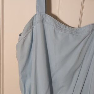 Chambray Jumpsuit w/POCKETS!
